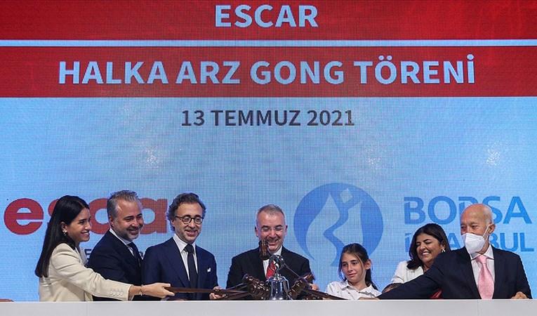 Halka arzını tamamlayan Escar, Borsa İstanbul'da işlem görmeye başladı
