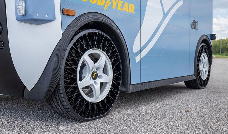 Goodyear'ın havasız lastikleri ilk olarak toplu taşımada kullanılacak