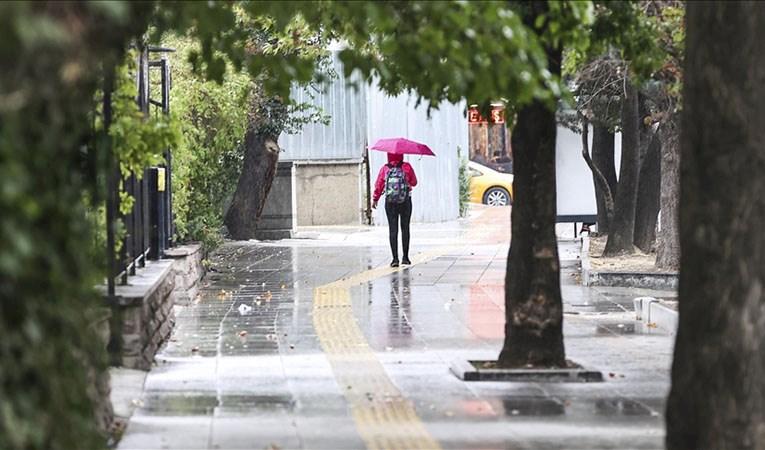 Türkiye'nin büyük bölümü bugün sağanak yağışlı